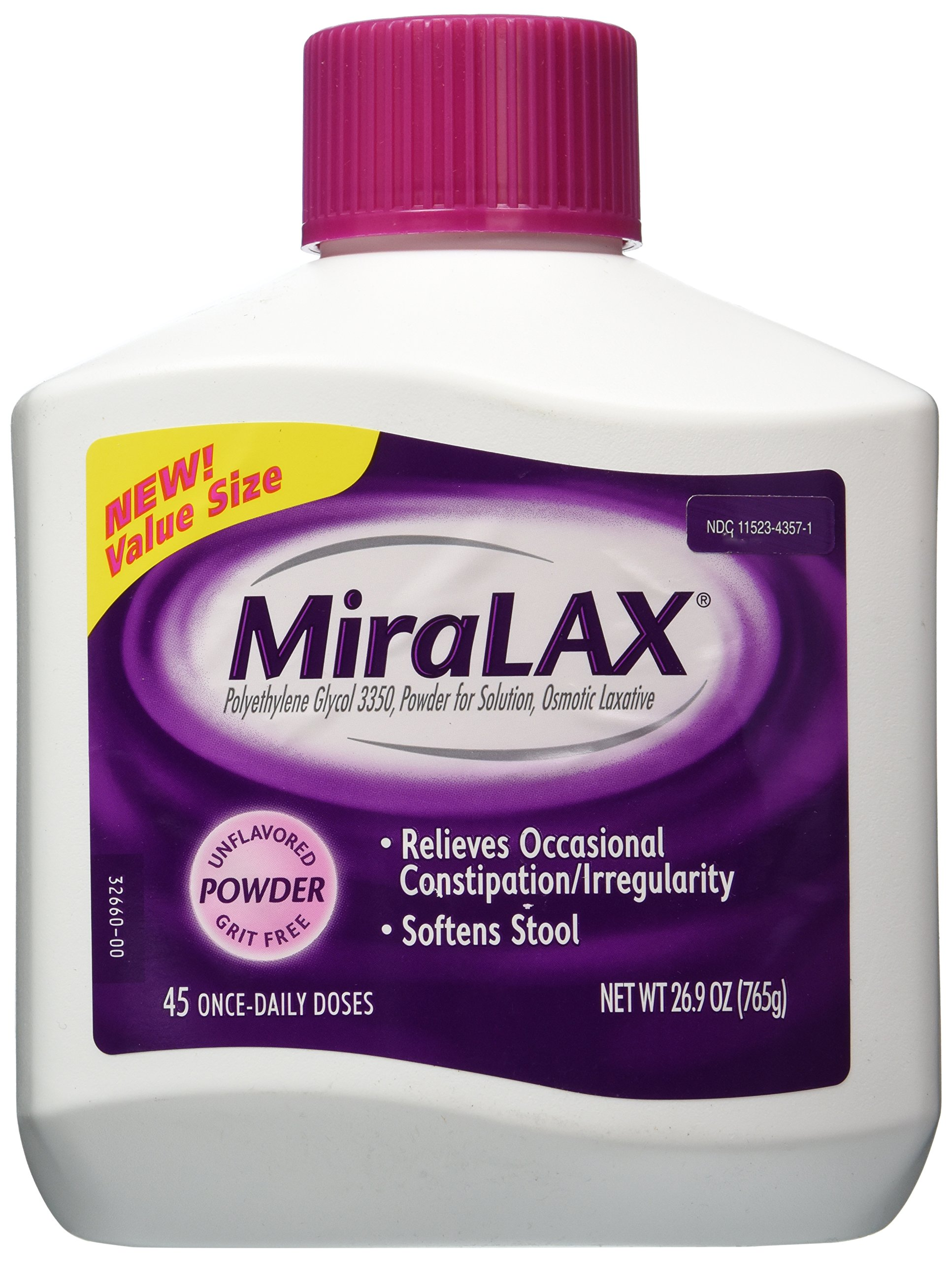 Miralax 45 Dose Powder Laxative, 26.9 Ounce by Miralax