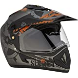 Vega Off Road Secret Full Face Helmet (Dull Anthra Black, M)