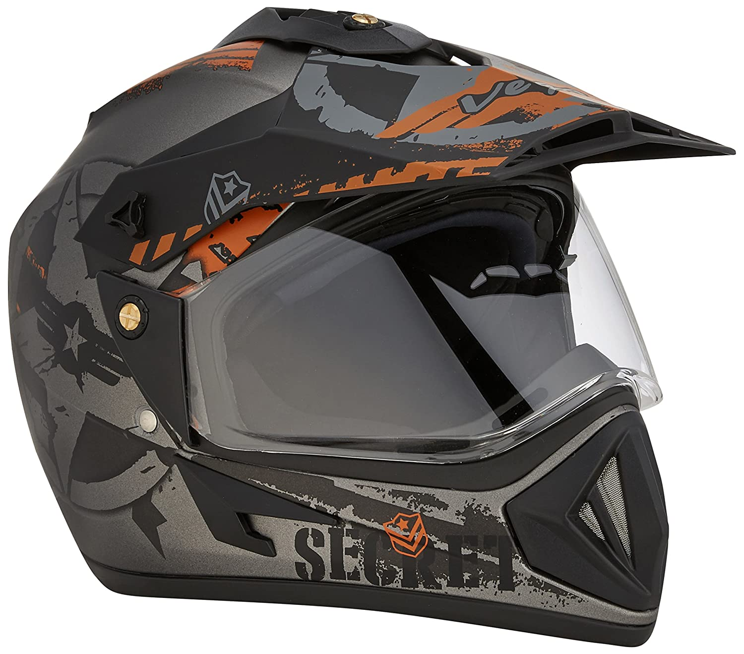 Vega Off Road Secret Dull Anthracite Black Helmet