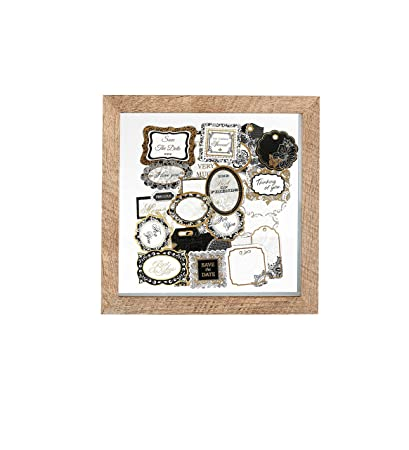 Amazon.com - Shadow Box Scrap Book Wood Picture Frame | 8x8 Inch ...