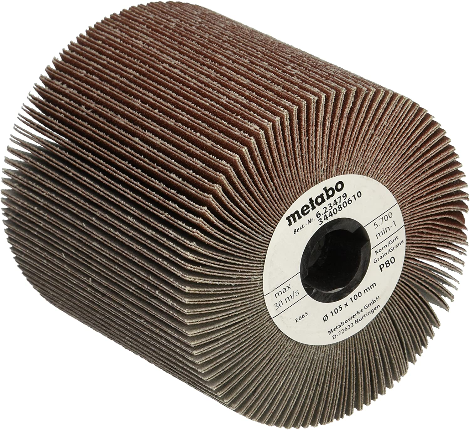 "Metabo 629458000 5/""x5//8/""-11 Ceramic Flapper Trimmable Flap Discs 40 Grit 5 pack"