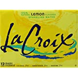 La Croix Sparkling Water, Lemon, 12 ounce cans- 12 count.