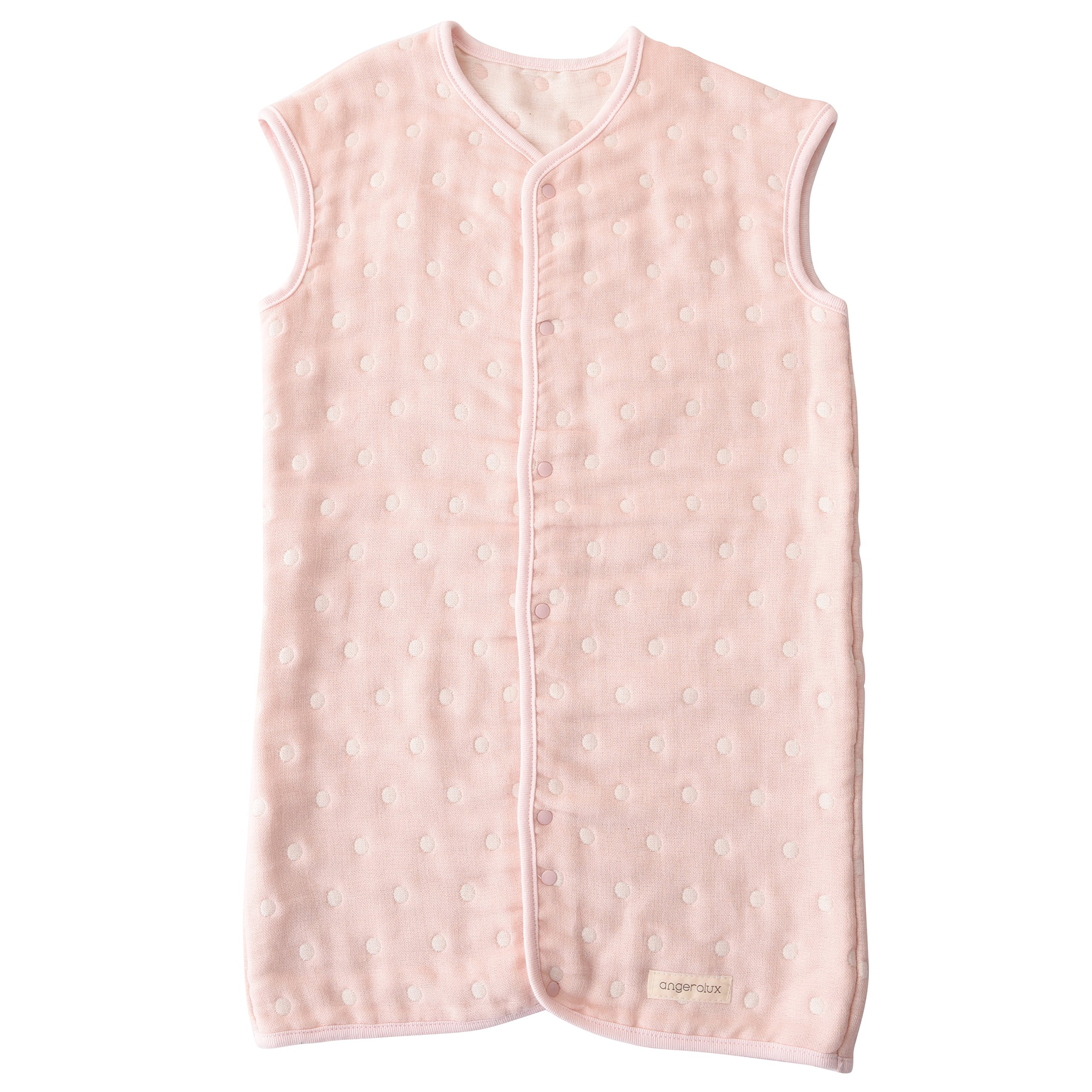 Angerolux 2way 6-layer gauze Sleeper 1 to 3-year old Pastel Pink Made in Japan