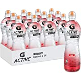 Gatorade G-Active Berry Flavoured Electrolyte Water, 12 x 600ml