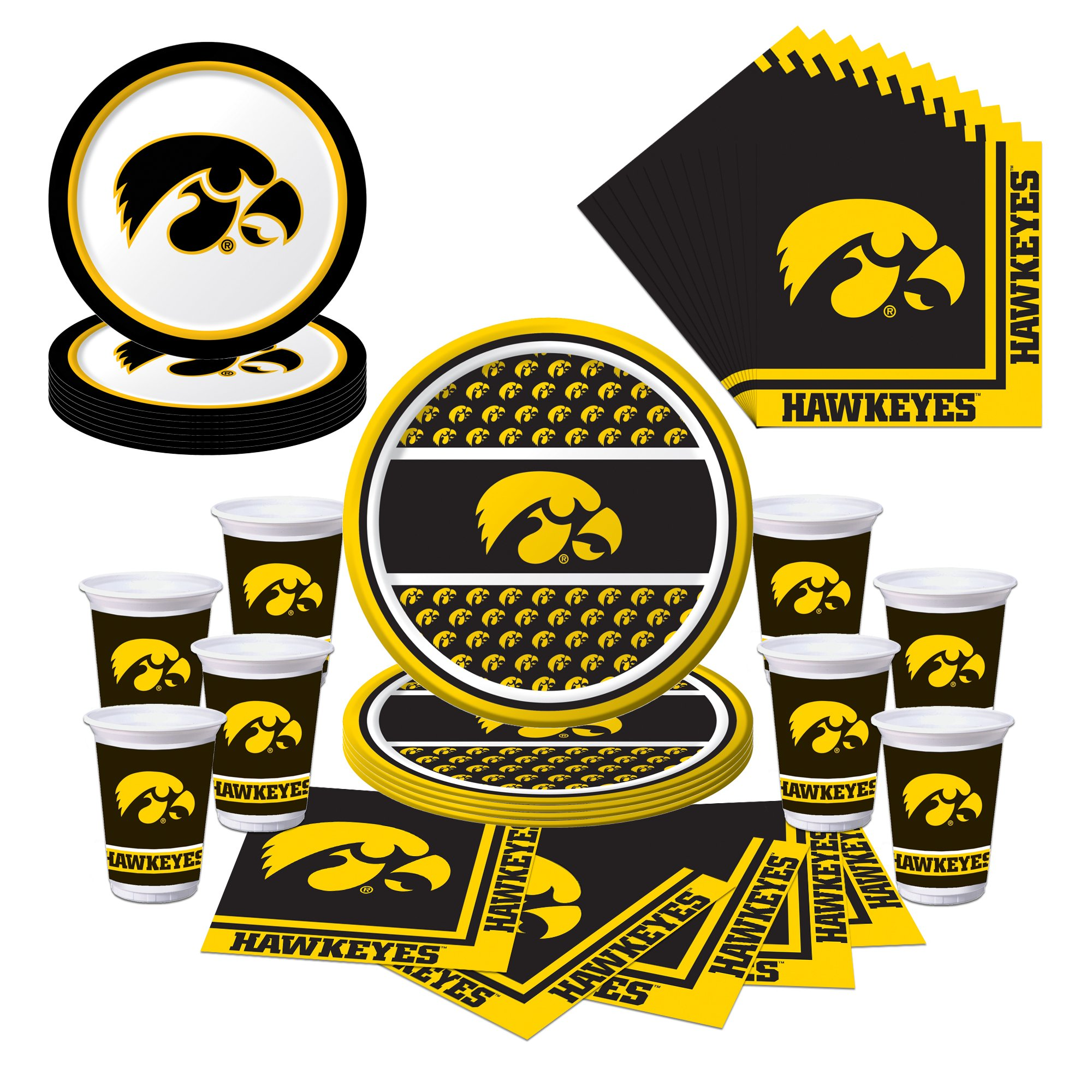 Amazon.com: IOWA HAWKEYES FACE AND NAIL SPORT STICK ONS-UNIVERSITY ...