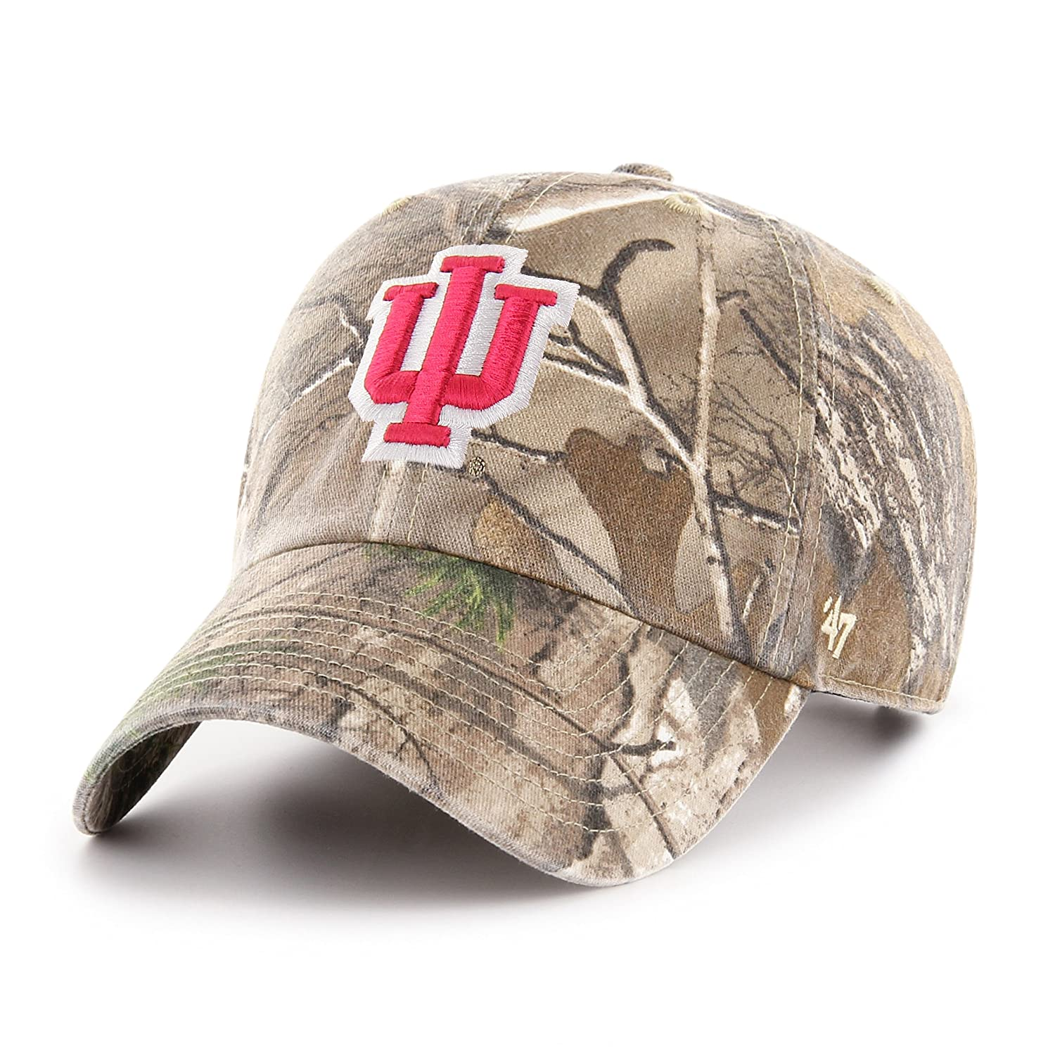 Realtree Camo One Size 47 NCAA Indiana Hoosiers Adult Clean Up Realtree Adjustable Hat