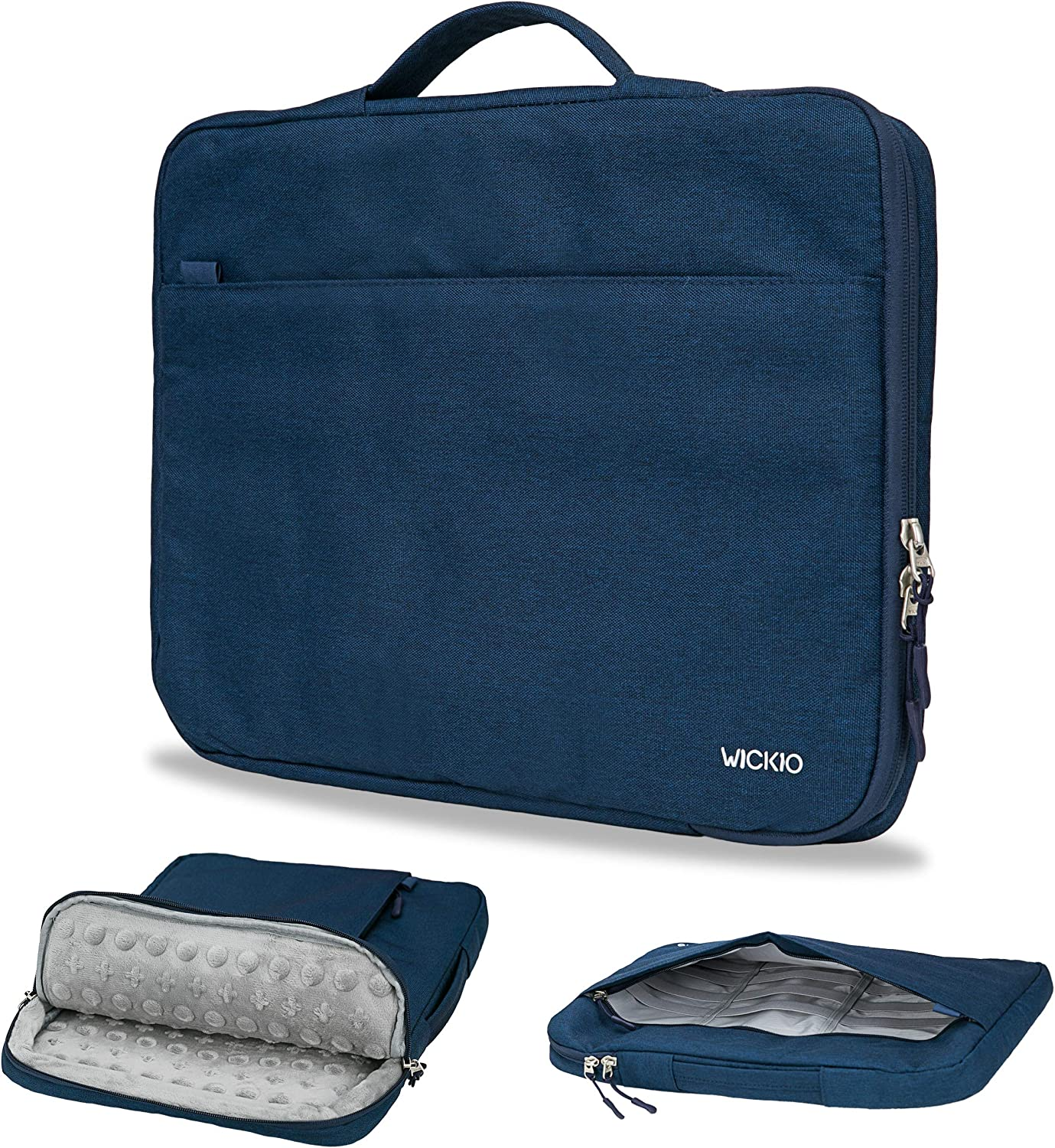 WICKIO Protective Laptop Sleeve Case Bag Briefcase Pouch Notebook Tablet Cover 13 15 17 inch 12.9 13.5 15.6 Compatible with Apple MacBook pro air Dell HP Lenovo Microsoft Acer Samsung Asus Chromebook