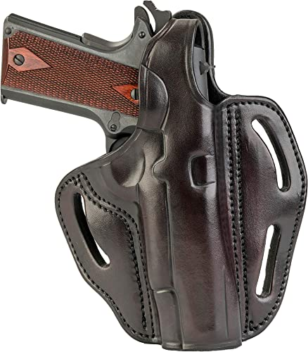 "1791 GUNLEATHER 1911 Holster - Thumb Break Leather Holster - Cocked and Locked Carry - Right Hand OWB Holster for Belts - Fit 4"" and 5"" Barrels"