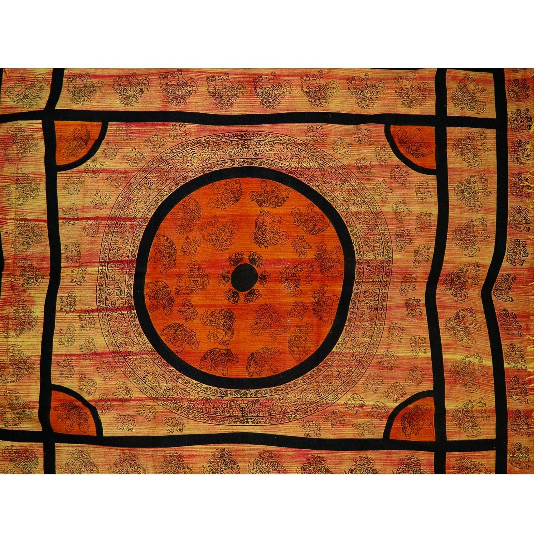 Handicrunch tagesdecke oranje schwarze elefanten 240x210cm ...