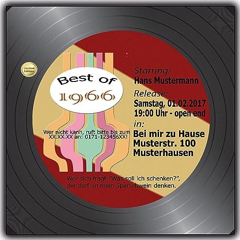 Einladungskarten geburtstag musik