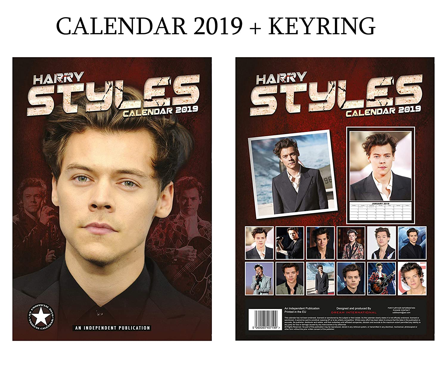 Harry Styles Calendar 2019 + Harry Styles Keyring DREAM
