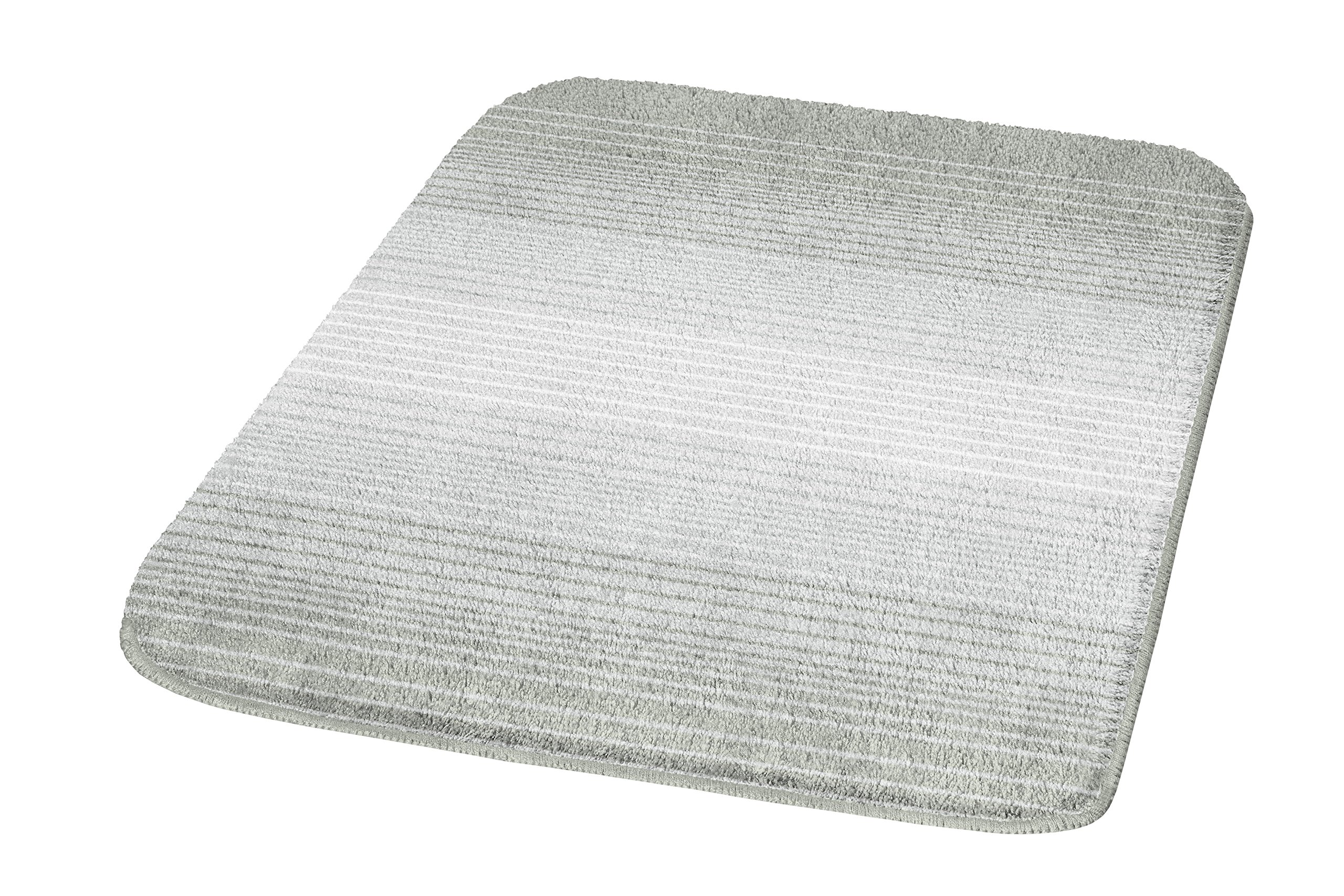 Kleine Wolke Alicante Gradient Medium Bath Rugs (21.7x25.6 In, Platinum) by Kleine Wolke