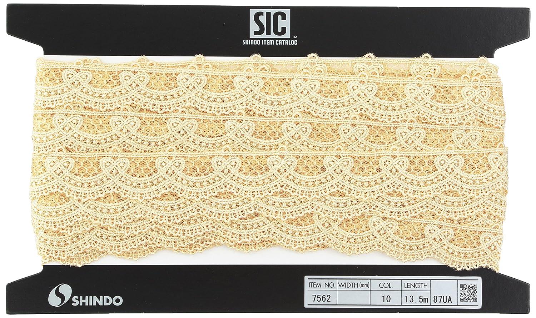 SHINDO チュールエンブロイダリーレース 約27mm (13.5m) SIC-7562 10   B00IX7R58M