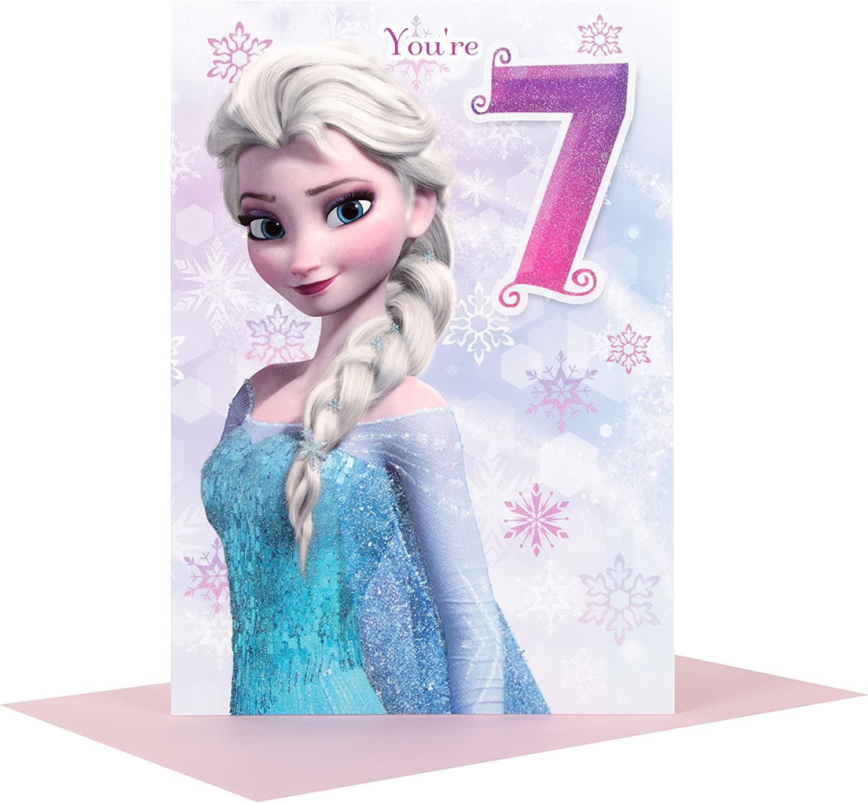 Swell Amazon Com Hallmark Disney Frozen Elsa 7Th Birthday Card You Funny Birthday Cards Online Barepcheapnameinfo