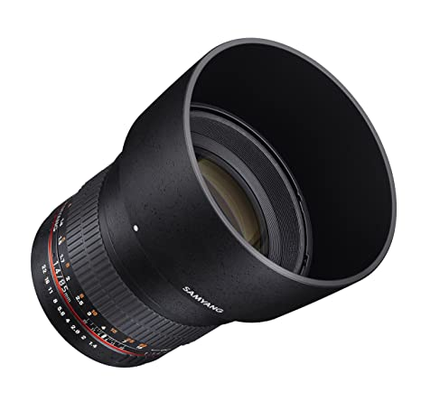 Samyang Sy85M-Fx 85Mm F1.4 Ultra Wide Lens For Fuji X Mount Cameras Camera Lenses at amazon