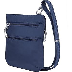 Travelon Women's Anti Theft Tailored Ns Slim Cross Body Bag
