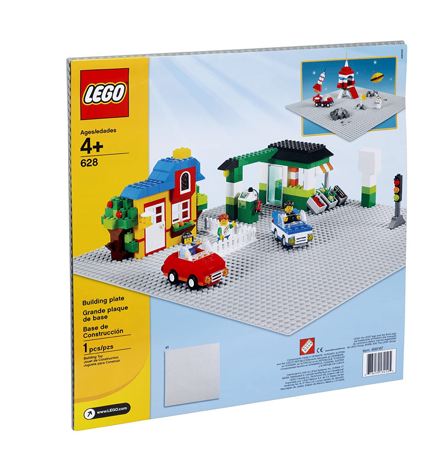 Amazon.com: LEGO Bricks & More Building Plate 628: Toys & Games