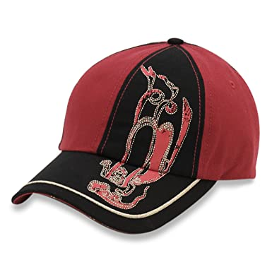 Infinity Selections Street Collection Baseball Cap-Angel-Black Red One Size a25c93d6d1a