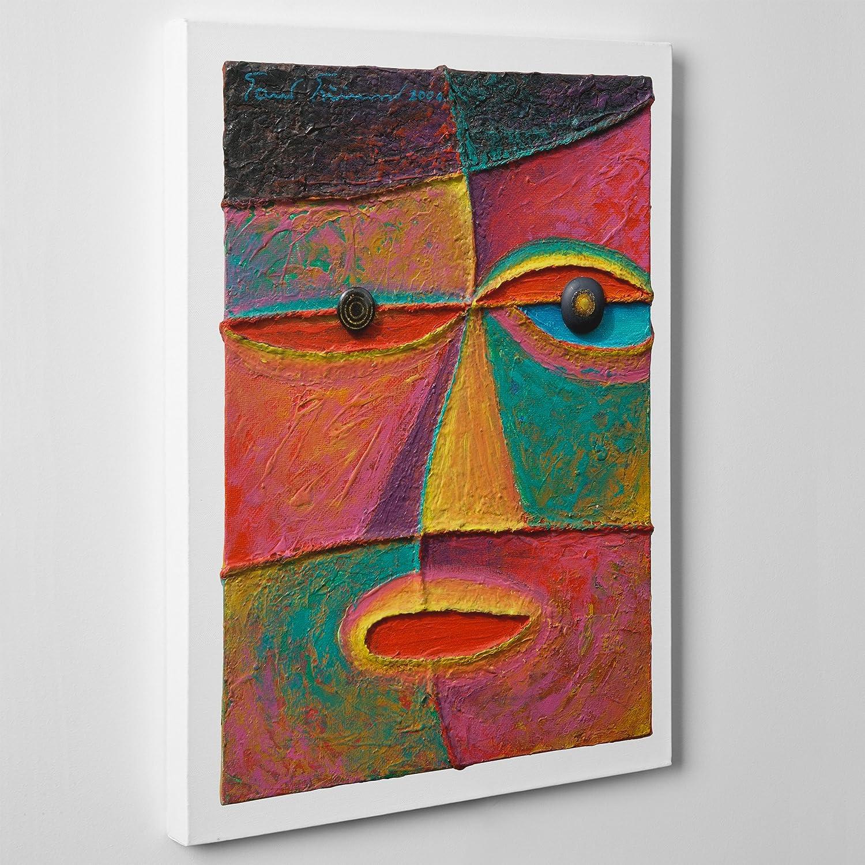 Cuadro moderno sobre lienzo, Arte Astratta, estilo cubista Picasso cod. 047