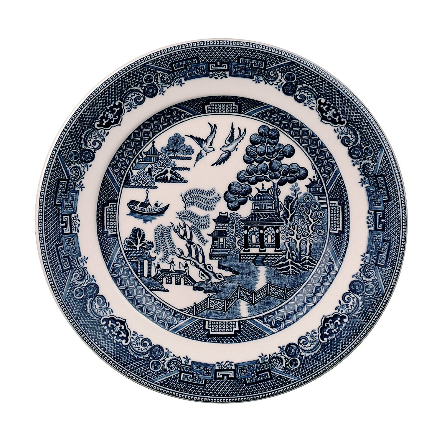 Johnson Brothers Willow Blue Bread & Butter Plate, 6'', Blue, Set of 4