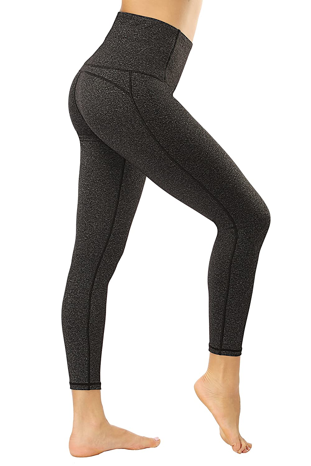 Grey Lopie Yoga Pants for Women high Waist with Pockets Stretch Tummy Control Non SeeThrough Workout Leggings