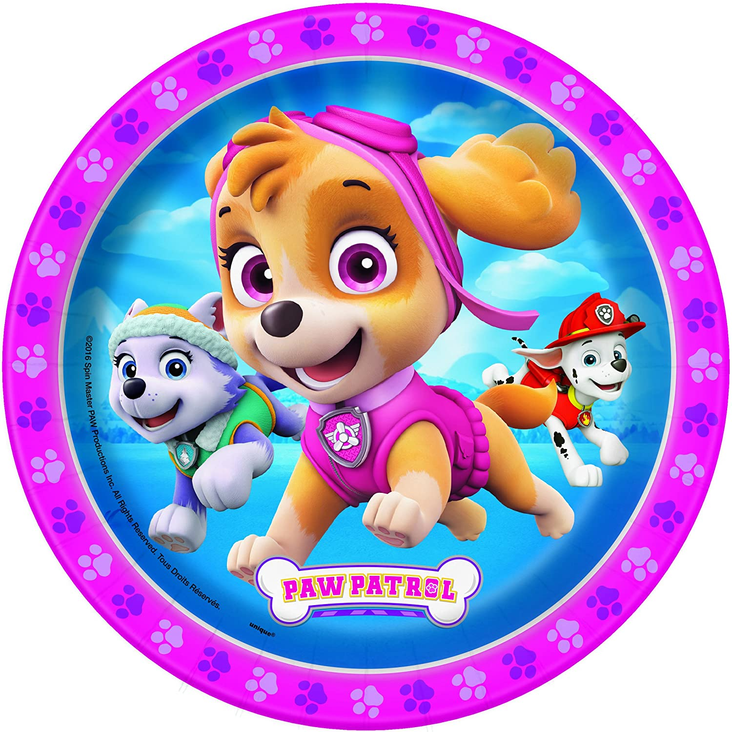 Best Value Dessert Cake Plates and Cups Paper Dinner Plates TABLEWARE Girl Paw Patrol Skye Party Supplies Tableware Pack Serves 16 Guests Girl Paw Patrol Napkins Licensed Girl Paw Patrol Pink Birthday Theme Kit