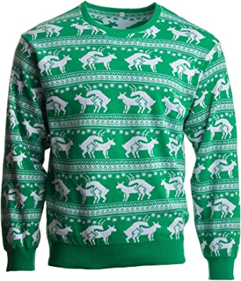 reindeer humping ugly christmas sweater w holiday insertion christmas dongs s