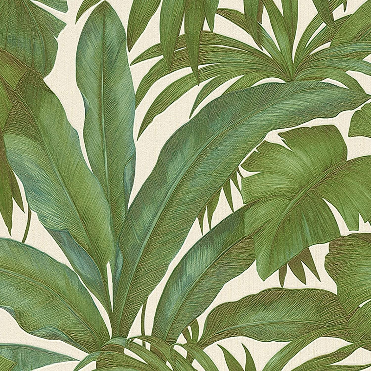 Versace Green Palm Leaf Wallpaper Extra Wide Paste The Wall AS Creation