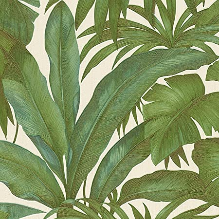 Versace Green Palm Leaf Wallpaper Extra Wide Paste The Wall