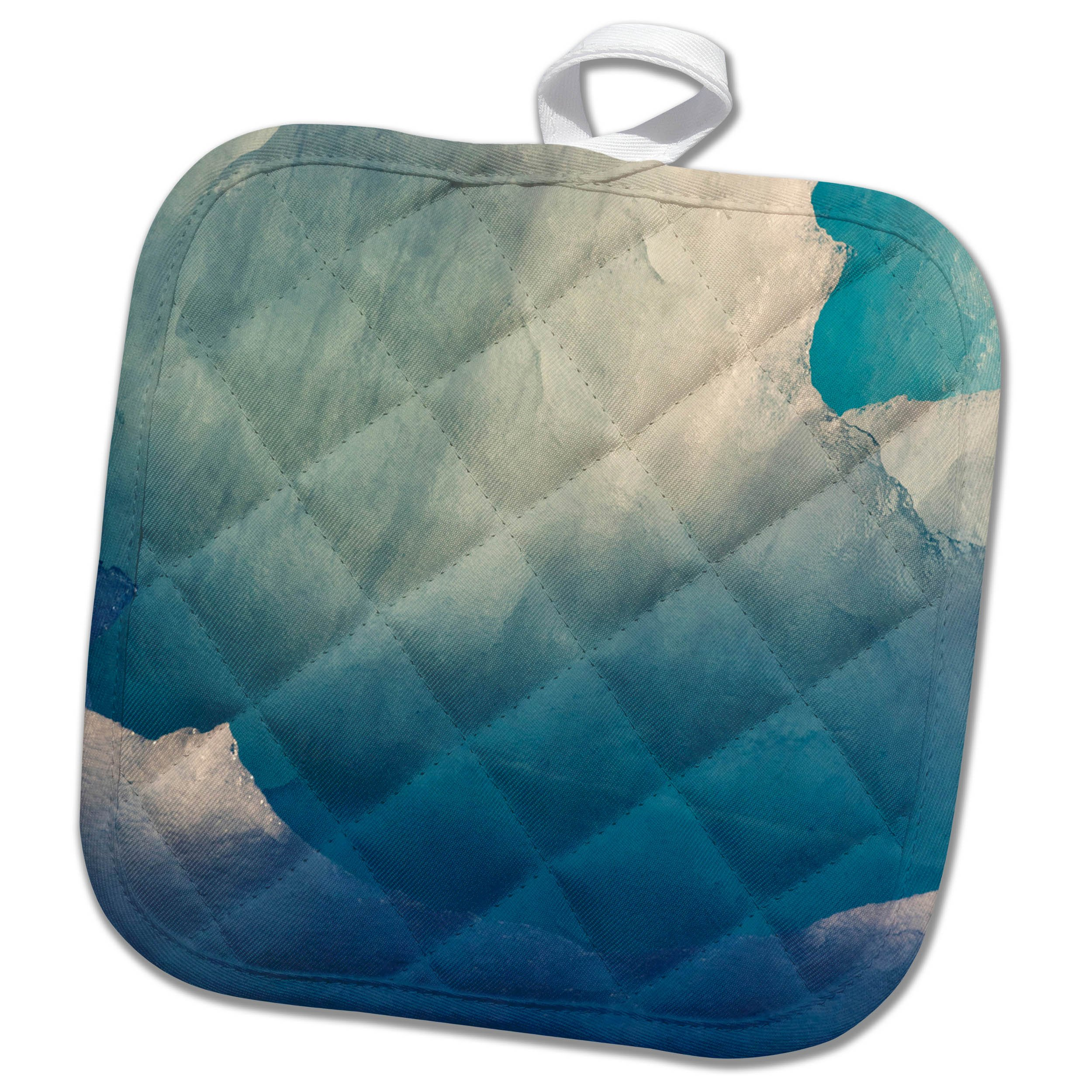 3dRose Danita Delimont - Abstracts - Icebergs patterns, southern Greenland, Denmark - 8x8 Potholder (phl_277954_1)