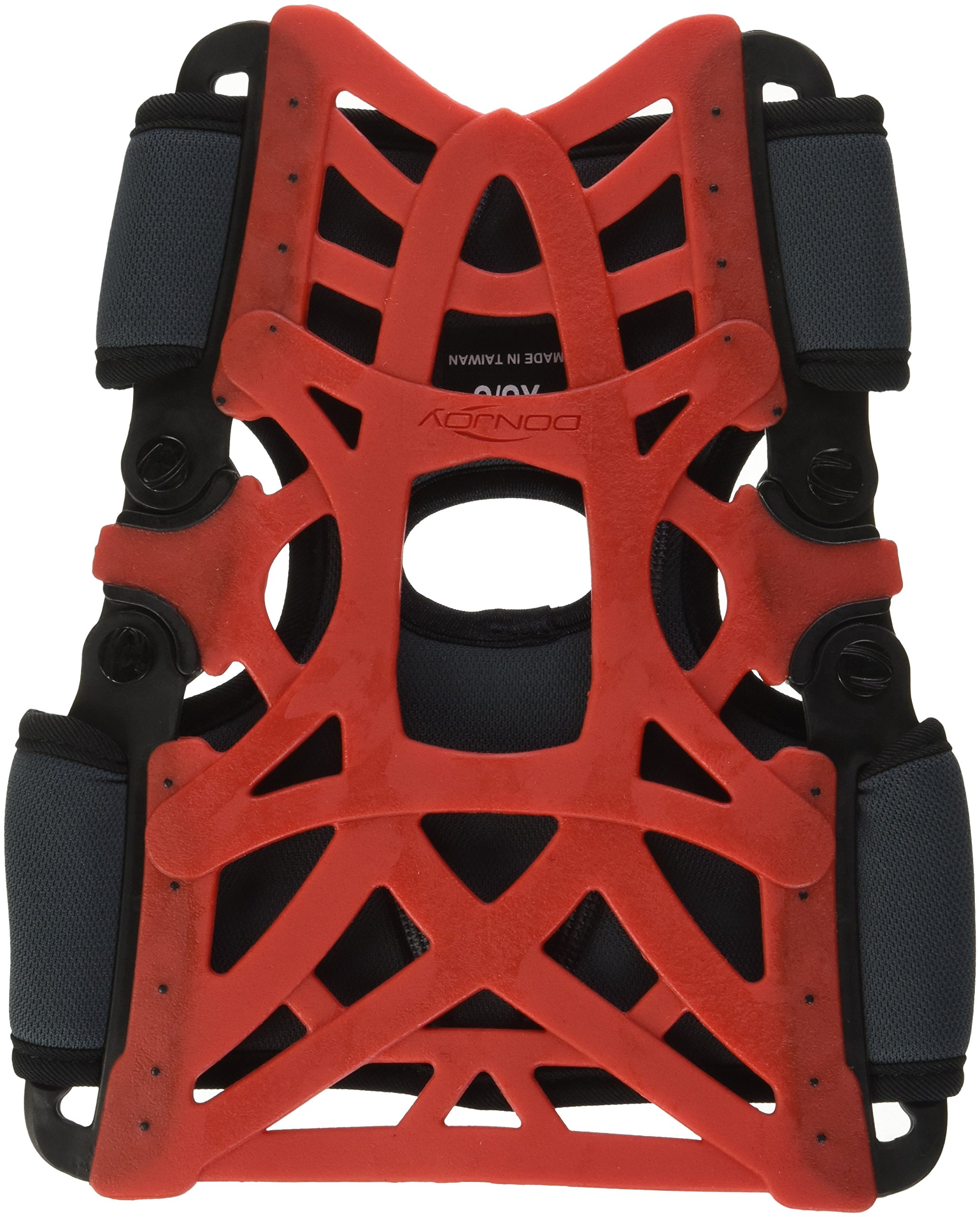 DonJoy Reaction Web Knee Support Brace with Compression Undersleeve: Red, X-Small/Small