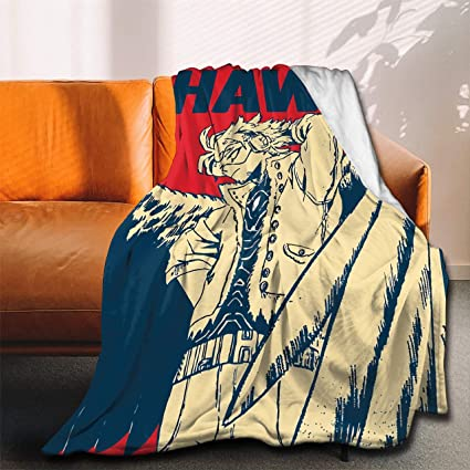 ANNBITION My Hero Academia Collage Anime BNHA Hawks Manga Flannel Throw Blanket