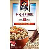Quaker Instant Oatmeal, High Fiber, Cinnamon Swirl, Breakfast Cereal, 8 -1.58 oz Packets Per Box (Pack of 4)