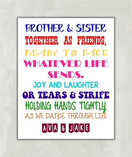 Amazon.com: Brother and Sister Together as Friends, Personalized ...
