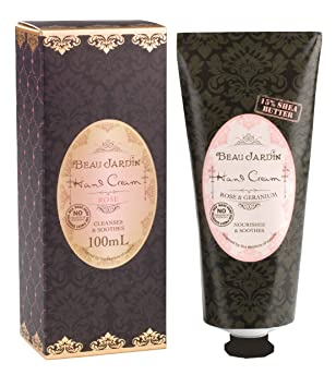 Beau Jardin Rose & Geranium 15 Percent Shea Butter Hand Cream ...