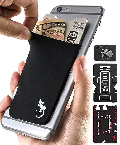 Cartera de teléfono Gecko – Soporte para teléfono – Tarjetero adhesivo para celular – Bolsa de teléfono – Bolsillo para teléfono de Lycra – Portador ...
