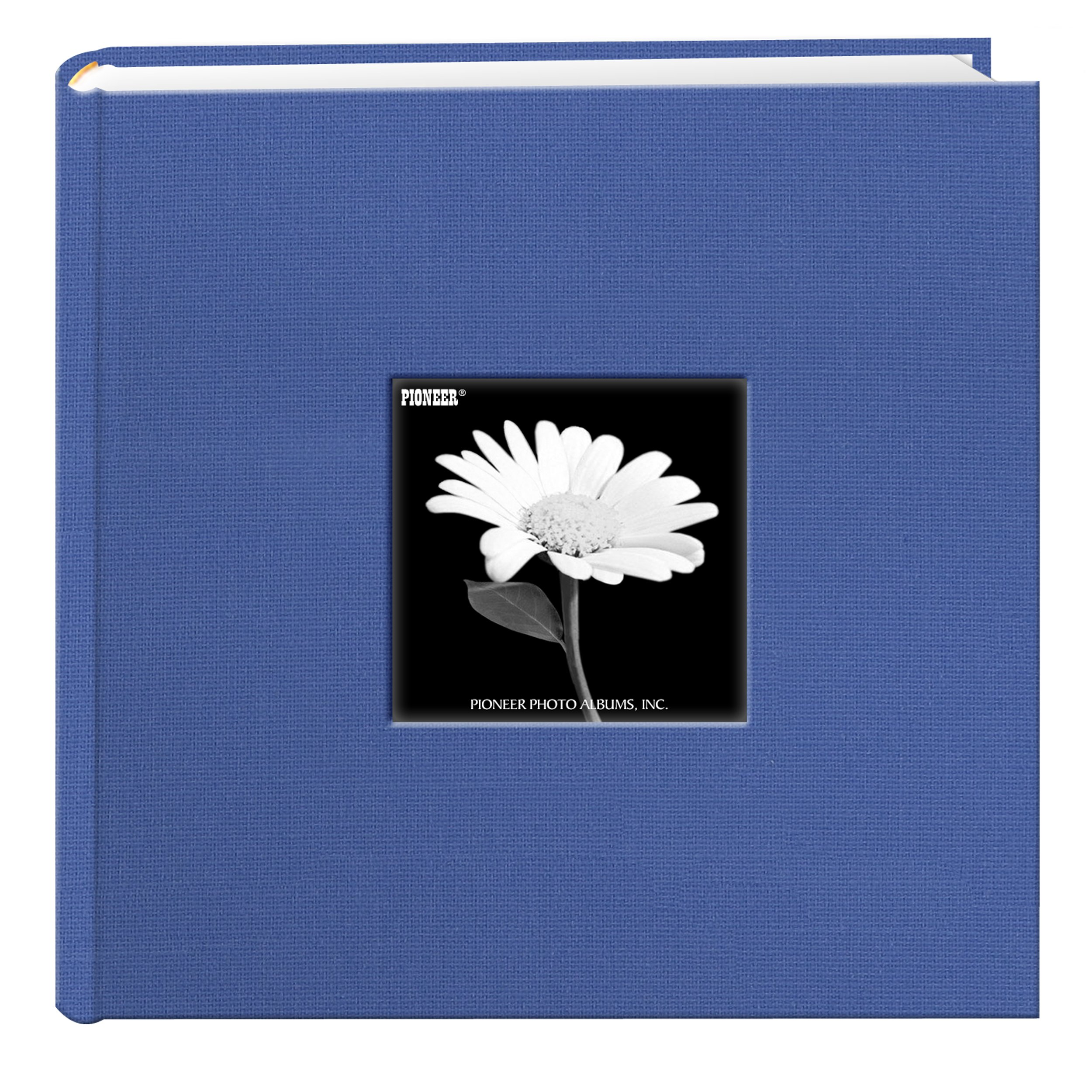 Fabric Frame Cover Photo Album 200 Pockets Hold 4x6 Photos, Sky Blue by Pioneer Photo Albums