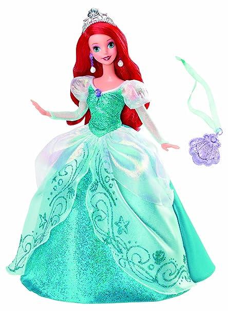 Amazon.com: Disney Princess Holiday Princess Ariel Doll: Toys & Games