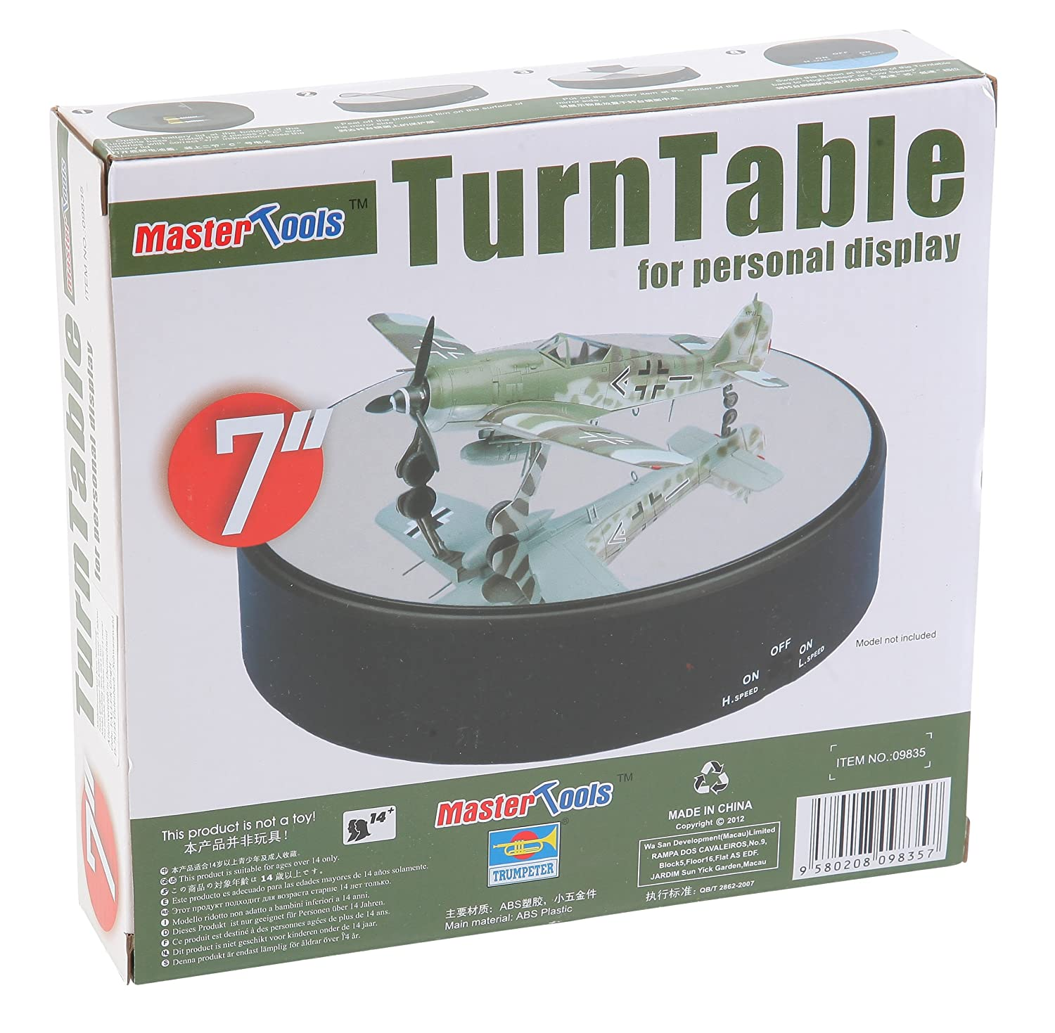 Trumpeter 182 cm x 42 mm Two speed Turntable Display TSM- 9835