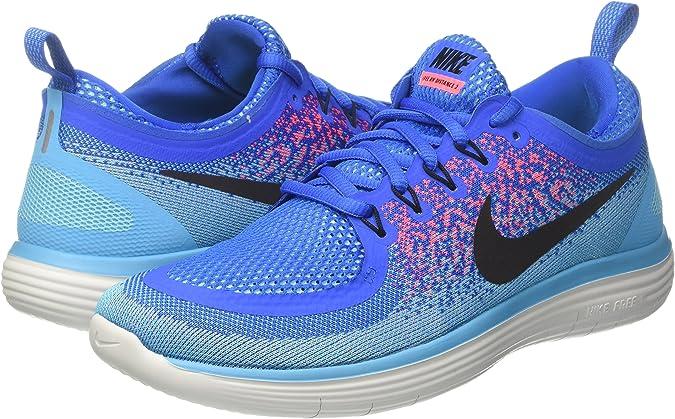 Nike Free RN Distance 2, Zapatillas de Running para Hombre, Azul (Soar/Schwarz-Hot Punch-polarisiert Blau), 42 EU: Amazon.es: Zapatos y complementos