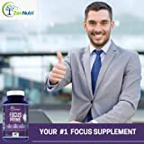 Focus, Memory, Clarity & Mood Support Brain Booster Supplement - Concentration Enhancer - Natural Vegetarian Nootropic Formula - Ginkgo Biloba, Bacopa Monnieri, St. John Wort & More - 60 Count