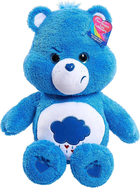 Message Recorder Stuffed Animals, Amazon Com Care Bears 21 Jumbo Plush Grumpy Blue Toys Games