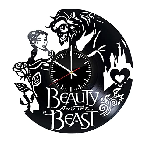 Disney Beauty and the Beast Rose Vinyl Record Wall Clock Best Gift Decor Items