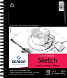"Canson Universal Spiral Sketch Book 9""X12""-100 Sheets (Pack of 1)"