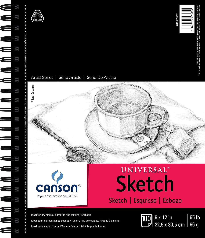 Cuaderno para bocetos, 22.9 cm X 30.5 cm, 100 Hojas. Canson Universal