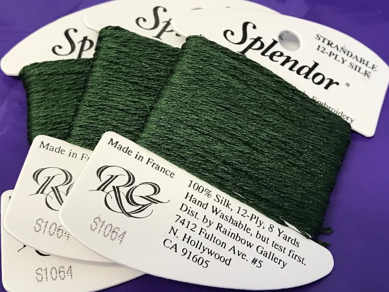 Splendor Silk THREAD-COLOR-S1064-DARK Fern Green-1 Card in This Listing