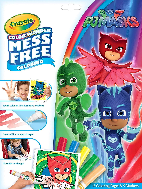 Crayola PJ Masks Color Wonder, Mess Free Coloring Pages, Gift for Kids
