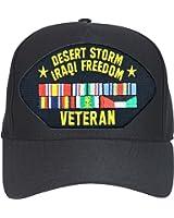 Desert Storm Veteran with Ribbons Ball Cap