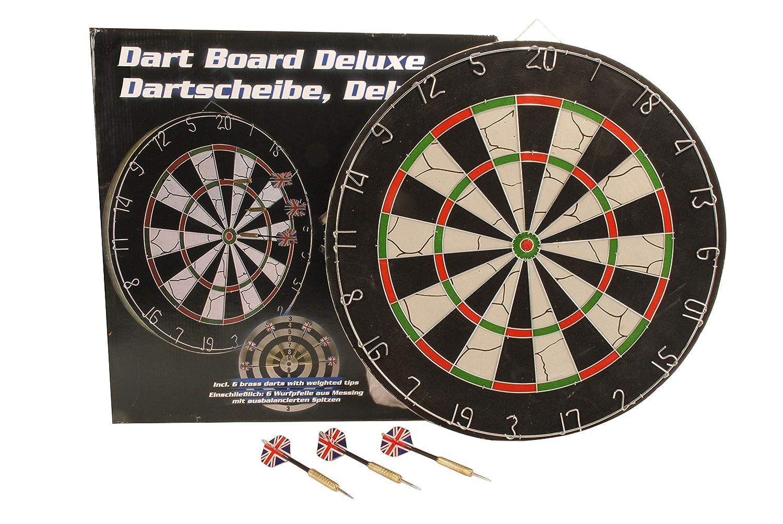 6 Dartpfeile Bar//Pub//Kneipe Lifetime 17881 Dartscheibe /Ø 45cm beidseitig bespielbar Dartboard inkl Schwarz