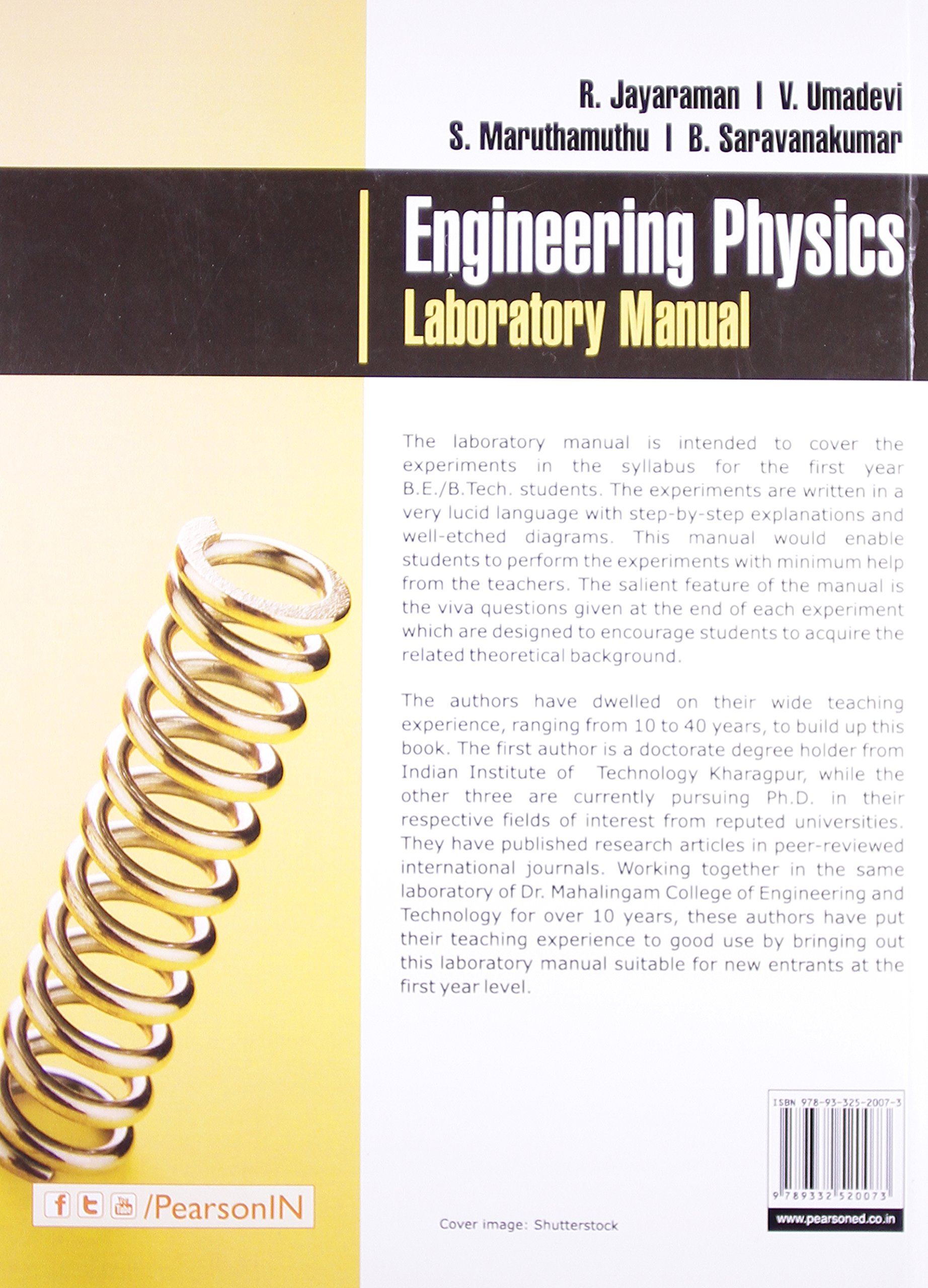 engineering physics laboratory manual jayaraman 9789332520073 rh amazon com engineering physics lab manual for first year ktu engineering physics lab manual for first year ktu